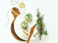 Frischkäse-Lachs-Sandwiches als Vorspeise Rezept