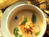 Frischkäse-Mais-Suppe mit Karotten Rezept