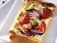 Frischkäse-Tarte mit Tomaten Rezept