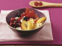 Frischkornbrei mit Obst