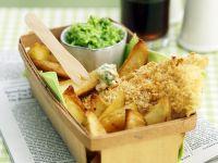 Frittierte Fischhäppchen mit Chips Rezept