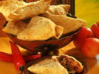 Frittierte Hackfleisch-Teigtaschen Rezept