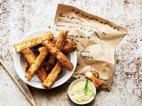 Frittierte Käse-Kartoffel-Sticks
