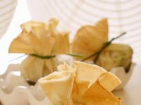 Frittierte Teigtaschen mit Artischocke gefüllt Rezept