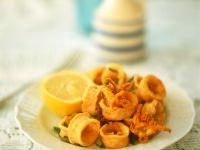 Frittierte Tintenfischringe Rezept