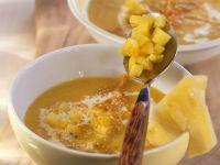 Fruchtige Karotten-Ingwer-Suppe mit Sesam Rezept