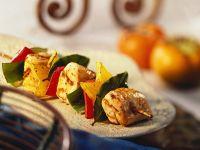 Fruchtiger Hähnchen-Paprikaspieß Rezept