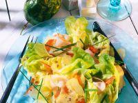 Fruchtiger Kopfsalat mit Schinken