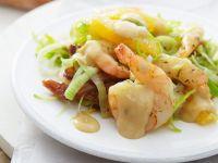 Fruchtiger Lauch-Shrimpssalat Rezept