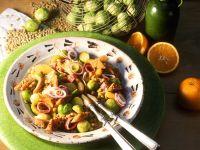 Fruchtiger Rosenkohlsalat mit Linsen Rezept