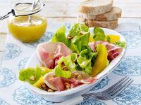 Fruchtiger Salat mit Dijon-Senf-Dressing Rezept