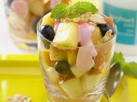 Fruchtsalat mit Joghurt Rezept