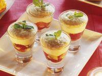 Früchtebecher mit Grießpudding Rezept