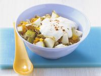 Früchtemüsli mit Joghurt Rezept