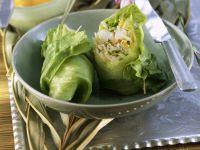 Frühlingsrolle mit Glasnudeln und Shrimps Rezept