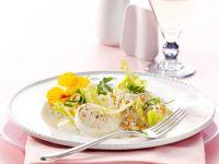 Frühlingssalat mit gegrilltem Ziegenkäse