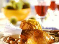 Gänsebraten mit mit Maroni und Bratapfel Rezept