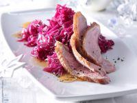 Gänsebrust mit Ingwer-Rotkohl Rezept