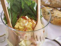 Garnelen-Ananas-Salat mit Ei Rezept