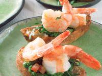 Garnelen-Bruschetta mit Rucola-Pesto Rezept