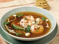 Garnelen-Enoki-Suppe Rezept