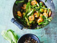 Garnelen mit grünem Gemüse Rezept