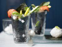 Garnelen-Sushi im Glas Rezept
