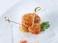 Garnelenbällchen mit Chilidip Rezept