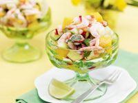 Garnelencocktail mit Mango-Gurken-Salsa Rezept