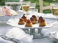 Garnelenküchlein mit Ingwer-Tomaten-Chutney Rezept