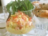 Garnelensalat mit Ei und Ananas Rezept