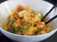Garnelenschwänze mit Papaya Rezept