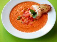 Gazpacho mit Garnelen Rezept