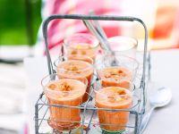 Gazpacho mit Weißbrotwürfeln Rezept