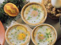 Gebackene Eier