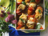 Gebackene Gemüse-Baguettescheiben Rezept