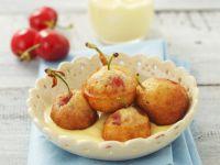 Gebackene Kirschen mit Vanillesoße Rezept