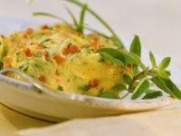 Gebackene Polenta mit Gemüse