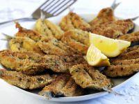 Gebackene Sardinen mit Kräuter-Parmesan-Panade Rezept