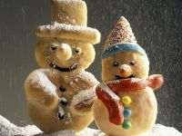 Gebackene Schneemänner Rezept