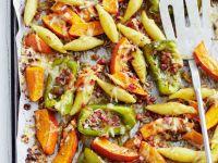 Gebackene Schupfnudeln mit Kürbis und Paprika Rezept