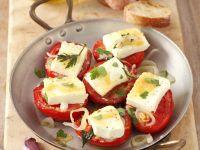 Gebackene Tomaten mit Käse Rezept