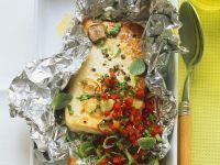 Gebackener Käse mit Paprikadressing Rezept