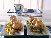 Gebackener Lachsspieß mit Asia-Salat Rezept