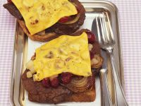 Gebackener Toast mit Leber Rezept