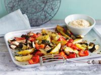 Gebackenes Gemüse und Kichererbsencreme Rezept