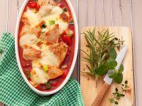 Gebackenes Hähnchen mit Paprika Rezept