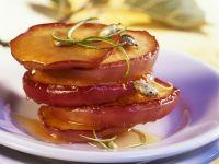 Gebratene Apfelringe mit Honig Rezept