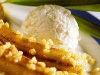 Gebratene Bananen mit Mandeln Rezept