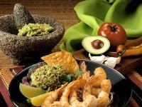 Gebratene Garnelen mit Guacamole Rezept